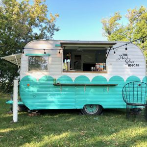 The Peachy Green Sidecar, mobile bar for hire