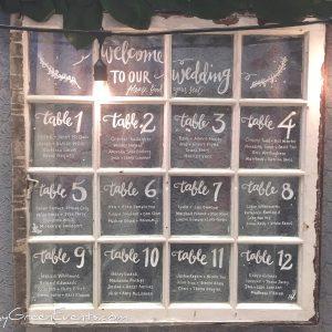 Windows, Chalkboards, Macrame & Signage
